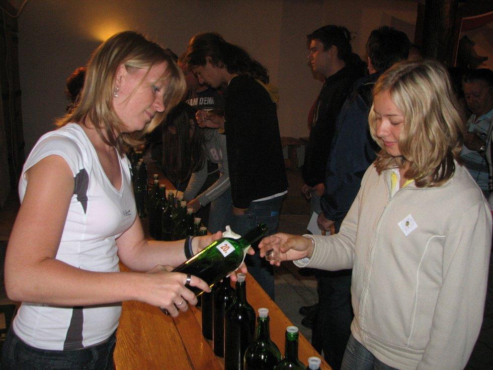 Padesát vystavených vzorků nízkoalkoholického nápoje chutnalo mladým i starším návštěvníkům skanzenu.