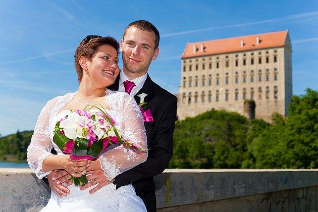 Soutěžní svatební pár číslo 107 - Jana a Jaromír Piňosovi, Prostějov.