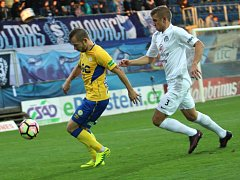 1. FC Slovácko vs. FK Teplice. Zleva Tomáš Vondrášek a Eldar Civič.