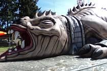 Na Růžencové pouti v Uherském Brodě představí v prvním říjnovém týdnu obřího ještěra.