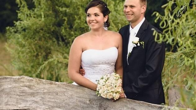 Soutěžní svatební pár číslo 140 - Lucie a Petr Bujáčkovi ze Suché Lozi obsadili 1. místo.