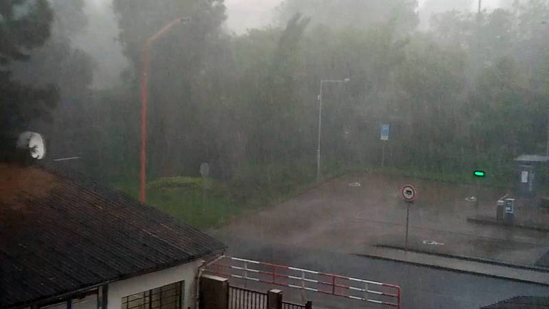 Bouřka s lijákem v Uherském Hradišti, 13. června 2020