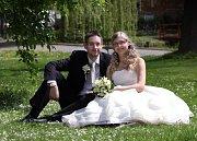Soutěžní svatební pár číslo 76 - Eva a Jiři Glosovi, Mohelnice