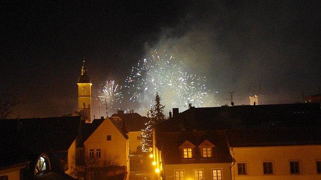 Novoroční ohňostroj v Uherském Hradišti