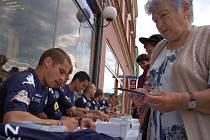 Autogramiáda fotbalistů 1. FC Slovácko