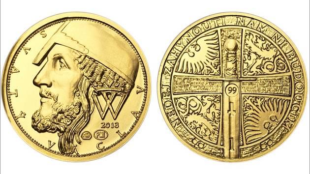 Číslované svatováclavské dukáty razí Pražská mincovna podle návrhu Vladimíra Oppla.