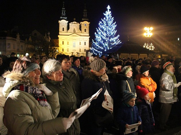 Takto se koledovalo dnes, ve středu 10. prosince v Uherském Hradišti.