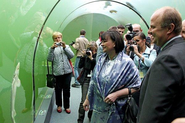Prezidentský pár si varcheoskanzenu Modrá udělal procházku Velkou Moravou
