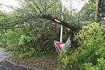 Následky bouřky z noci na pátek 11. 8. 2017.