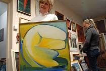 Výstava obrazů malířky Soni Libuše Kaanové.