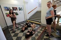Den otevřených dveří na Střední uměleckoprůmyslové škole v Uherském Hradišti.
