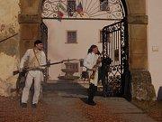 Na zámku v Ořechově se třetí březnovou sobotu a neděli promenádovali francouzští vojáci.