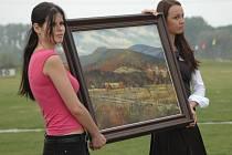Na prodej byly i krajiny uherskohradišťského malíře Jana Hladkého.