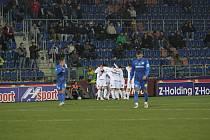 1. FC Slovácko – Slovan Liberec 1:2 (1:1). 1. Radost Slovácka po vedoucí brance.