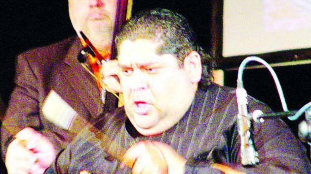 Nadšení vyvolala hra člena Gipsy devils Ernesta Sarközyho.