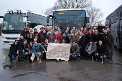 Křesťanští poutníci ze Slovácka v Rize.