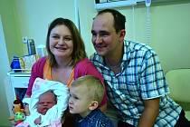 Sára Stašová je první miminko narozené v Uherskohradišťské nemocnici v roce 2013.