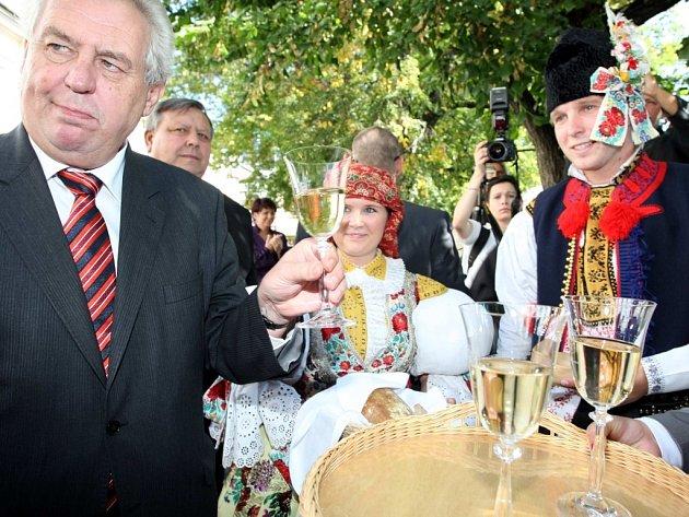 Návštěva prezidenta Miloše Zemana v Uherském Hradišti
