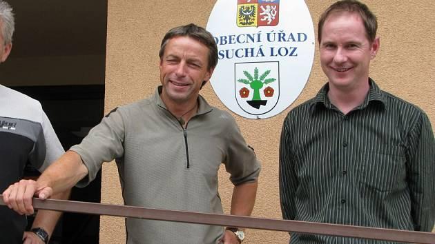 Pražský primátor Pavel Bém a starosta Suché Lozi Petr Gazdík