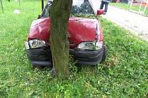 Nárazem do stromu skončila cesta jedenatřicetiletého řidiče Fordu Eskort. Průjezd zatáčkou nezvládl, protože mu v těle kolovaly více než dvě promile alkoholu.