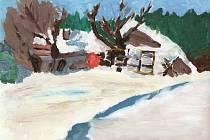 Soutěž O nejlepší obrázek Slovácka, obrázek číslo 1 - Zimní krajina na Slovácku