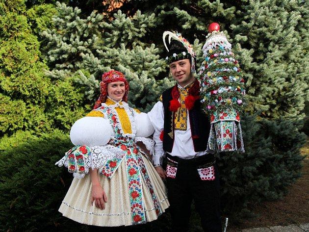 Soutěžní pár číslo 2 - Kristýna Vaculíková a Jan Pluhař,starší stárci na hodech ve Starém Městě 1.–2. října
