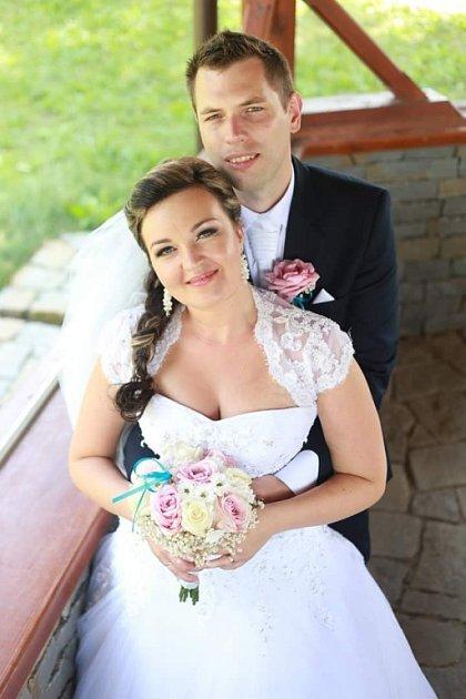 Soutěžní svatební pár číslo 29 - Lenka a Ondřej Borýskovi. Uherský Brod