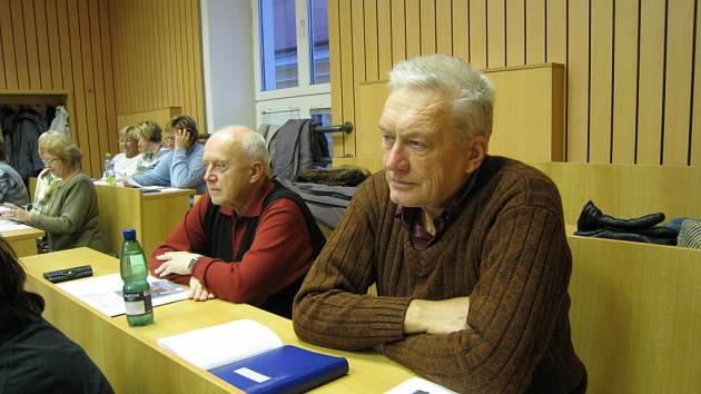 Třída seniorů na Obchodní akademii v Uherském Hradišti.