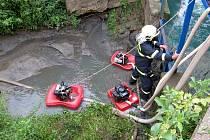 Únik nebezpečné chemické látky do vody v Kudlovicích.