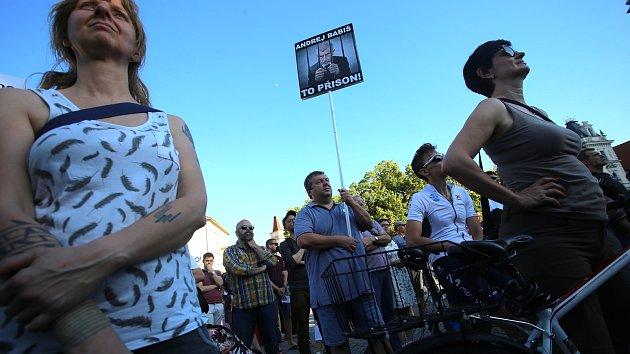 Demonstrace proti vládě Andreje Babiše v Uherském Hradišti