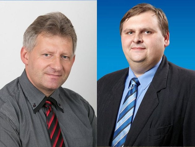 Zleva: starosta Hluku Martin Křižan (KDU-ČSL) a starosta Bojkovic Petr Viceník (ODS).