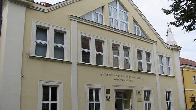 Obchodní akademie v Uherském Hradišti. Ilustrační foto.