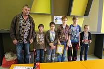 Šachisté ŠK Staré Město D vyhráli Krajskou soutěži družstev starších žáků.
