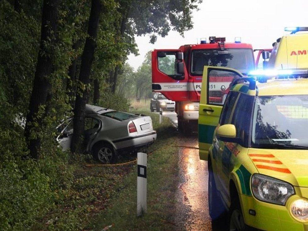 Dopravní nehoda u Pašovic.