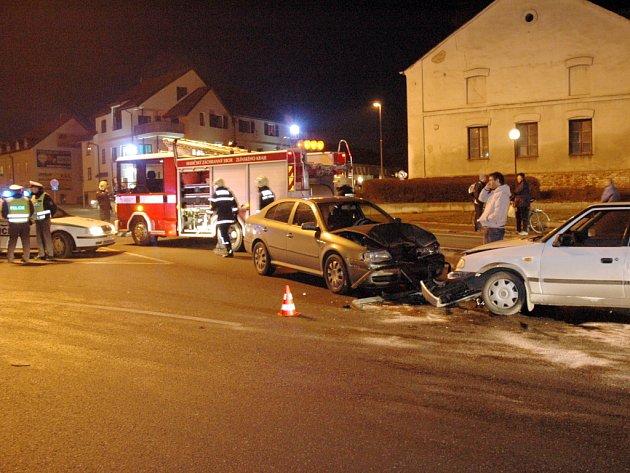 Dopravní nehoda v Kunovicích.