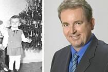 Libor Karásek (vlevo snímek z dětství).