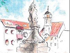 Obálka knihy Jaromíra Slavíčka - Město, které mám rád. Detail.