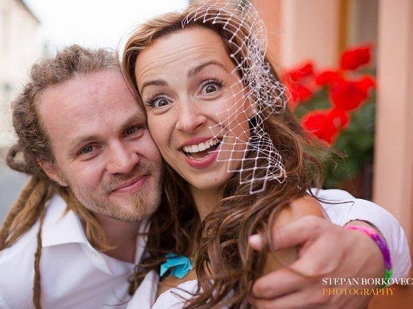 Soutěžní svatební pár číslo 256 - Marie a Lukáš Marečkovi, Olomouc.