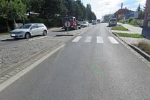 Mladíka srazil vůz v ulici Neradice v Uherském Brodě.