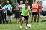 Letní filmová škola v Uherském Hradišti 2012. Tradiční fotbalový zápas. Herec Ondřej Vetchý.