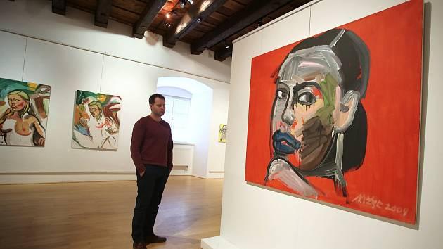 Výstava Josef Mžyk Ohlédnutí ve Slovácké galerii v Uherském Hradišti. Ilustrační foto
