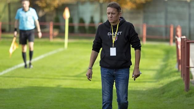 Trenér třetiligových fotbalistů Uherského Brodu Martin Onda.