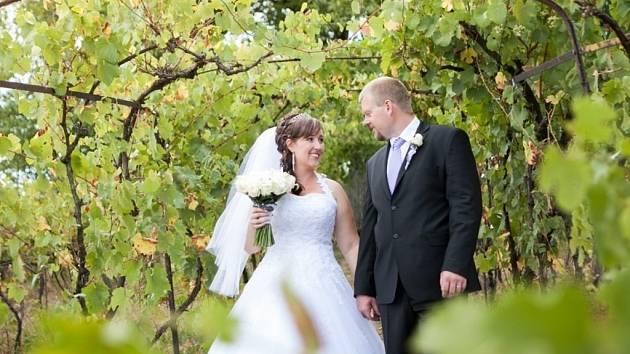 Vítězný soutěžní svatební pár číslo 57 - Martina a Miloslav Hajdůchovi, Dolní Němčí.