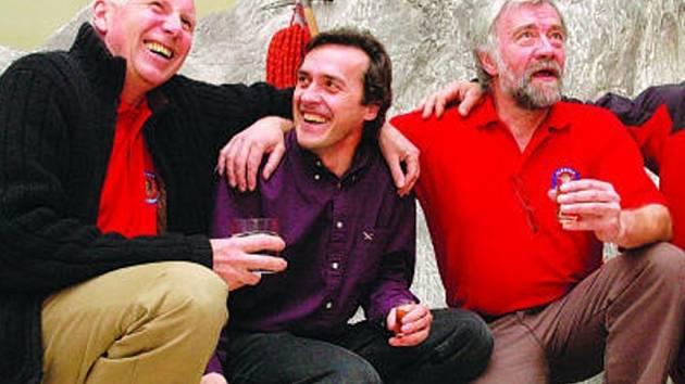 Jiří Rohel (vpravo) a Martin Minařík (uprostřed).