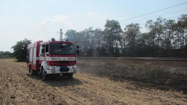 Požár u trati