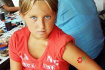 """Dětské """"tetování""""."""