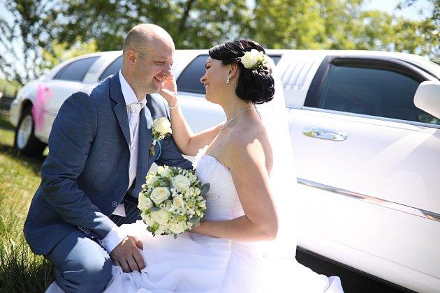 Soutěžní svatební pár číslo 67 - Petra a David Šenkyříkovi, Kudlovice