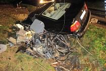 Tragická dopravní nehoda mezi obcemi Slavkov a Strání.