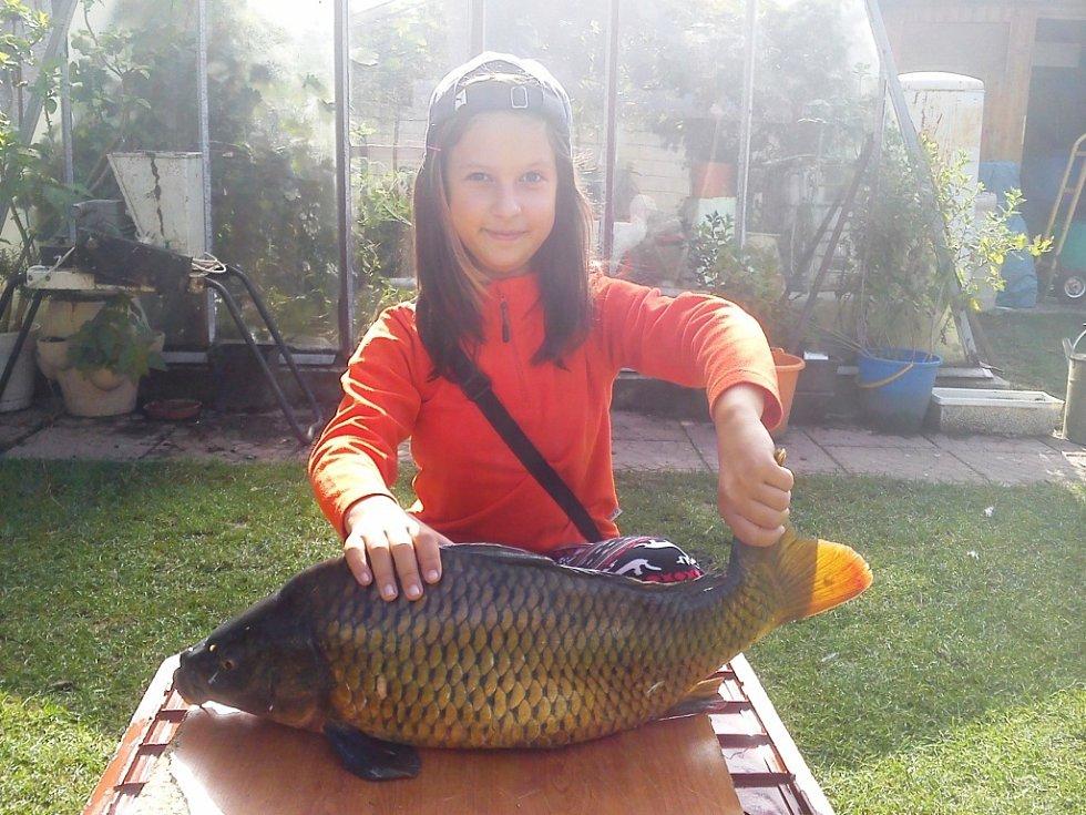 Soutěžní číslo 91 – Lucie Pisková, kapr, 42 cm, nevážen.