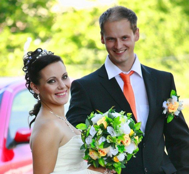 Soutěžní svatební pár číslo 197 - Miroslav a Kateřina Mazáčovi, Prostějov.